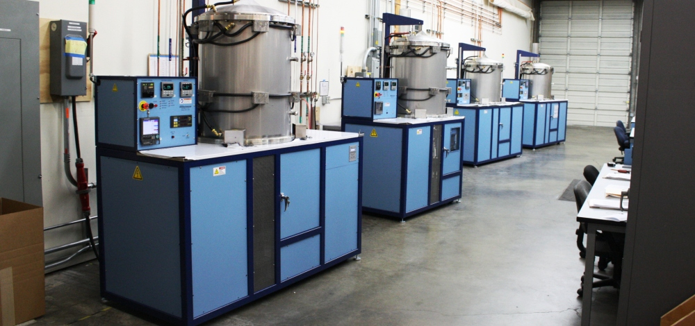 Row of J furnaces on our shop floor